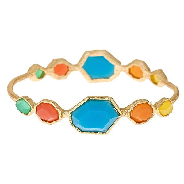 Cabana Multi Stone Bangle by Fornash