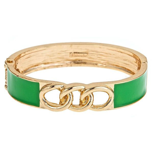 Channel Bracelet By Fornash in Green and Gold Vermeil