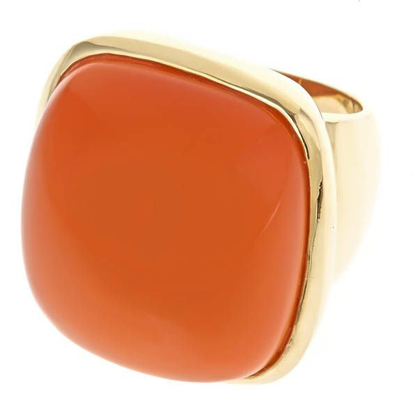 Coral Stone Fornash Cocktail Ring