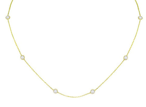 Diamond by The Yard in 14kt Gold and CZ 16 inches