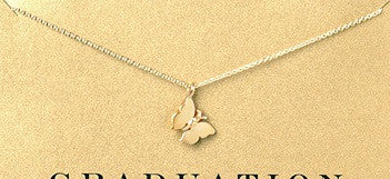 Dogeared Gold Dipped Butterfly Necklace