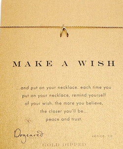 Dogeared Make a Wish Gold Dipped Wishbone Necklace