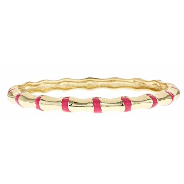 Enamel and Vermeil Pink Bamboo Bangle by Fornash