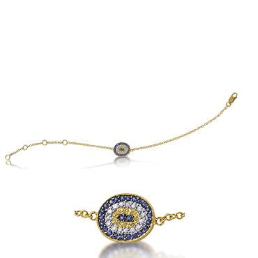 Evil Eye Bracelet in Yellow Gold