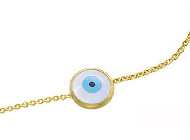 Evil Eye Bracelet Yellow Gold