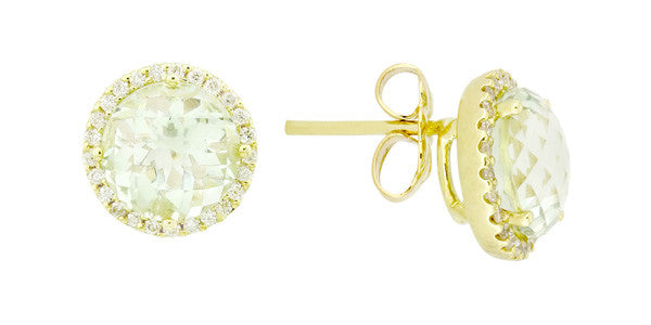 Yellow Gold and Diamond Circles Earrings
