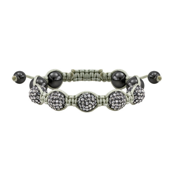 Grey and Black Shamballa Style Bracelet