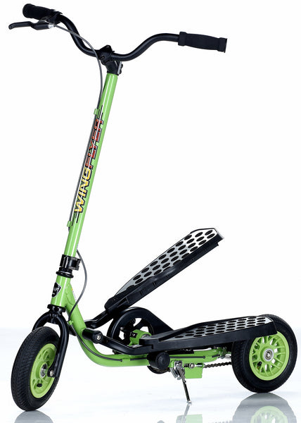 WingFlyer Z100 Scooter Bike in Lime Green - SHIPS IN A PLAIN BROWN OUTER BOX