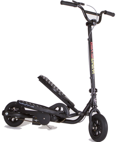 WingFlyer Z100 Scooter Bike in Black Max - SHIPS IN A PLAIN BROWN OUTER BOX