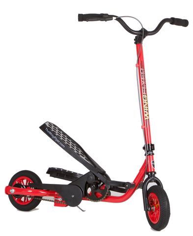 WingFlyer Z100 Scooter Bike in Fire Engine Red - SHIPS IN A PLAIN BROWN OUTER BOX
