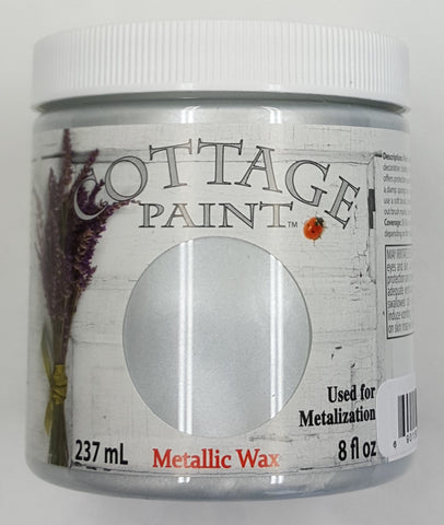 Bright Silver Metallic Wax- 8oz