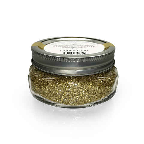 German Glass Glitter-Gilded Gold