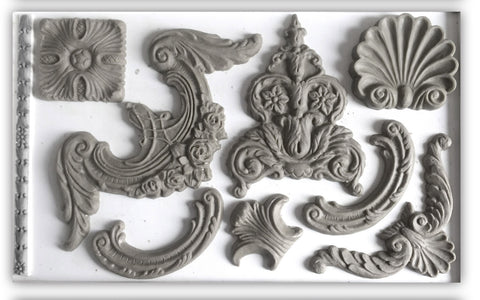 Furniture , Crafts and Sugar Art moulds work with many types of media to create your own appliques.