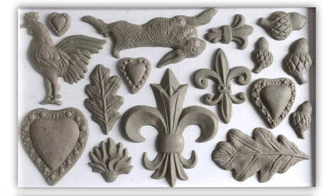 These silicon moulds can be used with many types or media including paper clay, polymer clay, resin and even chocolate (food safe rated).