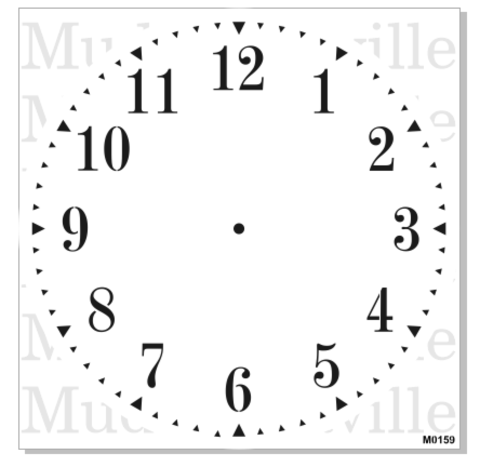 Stencil - Clock with numbers