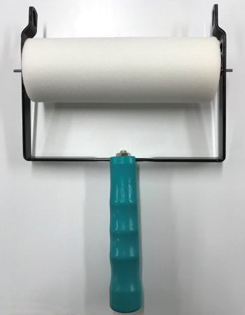 Stamp roller with handle