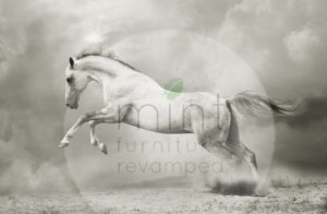 White Horse Decoupage Paper
