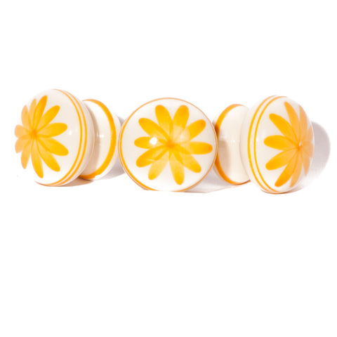 Yellow & White Flower - Ceramic