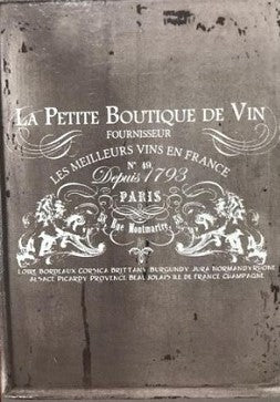 "Petit Vin Wide (36.25"" x 25.25"") White"