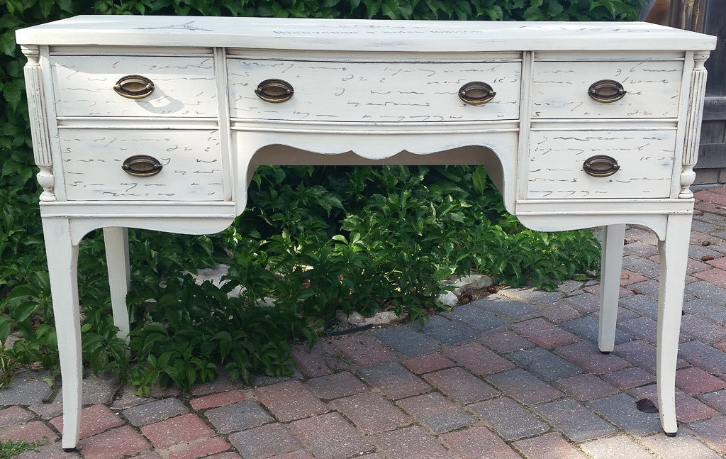 White-stenciled-buffet