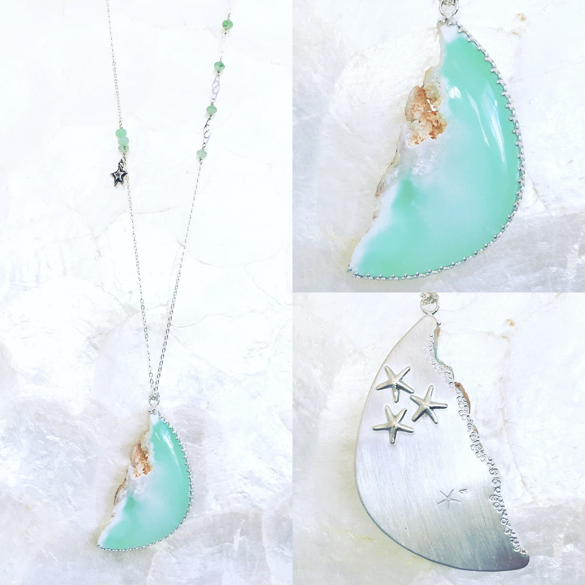 products on with chrysoprase filled necklace chain spring clasp gold