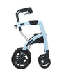 Rollz Motion - 2-in-1 Transport Chair and Rollator - Blue Side View - Boomly