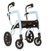 Rollz Motion - 2-in-1 Transport Chair and Rollator - Blue - Boomly