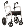 Rollz Motion - 2-in-1 Transport Chair and Rollator - Grey - Boomly