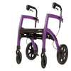 Rollz Motion - 2-in-1 Transport Chair and Rollator - Purple - Boomly