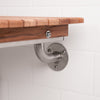 Wall Mounted Teak Shower Seat - Folding Shower Bench - Boomly