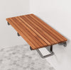 Teak Wood Shower Bench - Folding ADA Shower Seat - Boomly