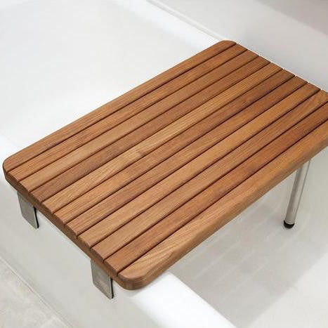 Teak Removable Bath Seat - Folding Bath Seat - Boomly