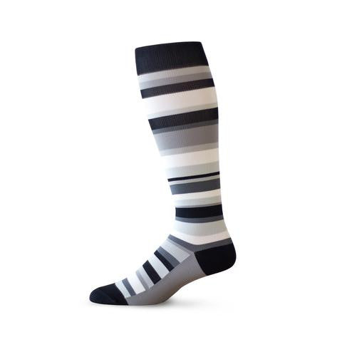 Fashionable striped compression socks for men