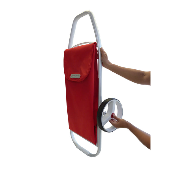 Stylish Red 2 wheel Shopping Cart - Rolser - Boomly