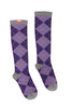 Fashionable argyle compression socks for women - Vim & Vigr - Boomly