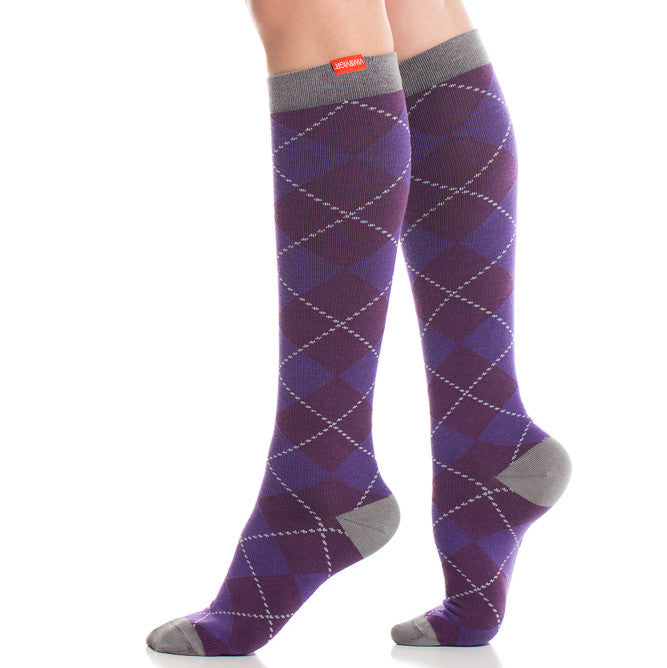 Cute argyle compression socks - Vim & Vigr - Boomly