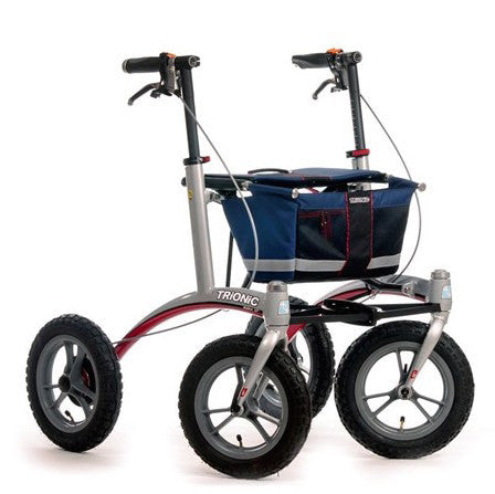 Navy Rollator Walker Trionic - Boomly