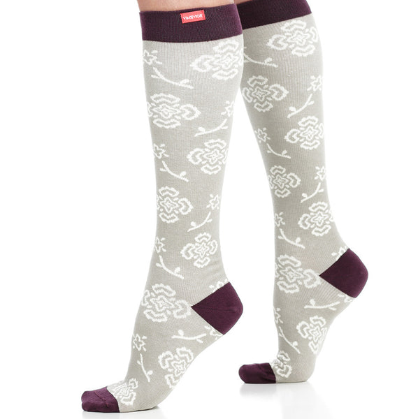 Cute floral compression socks for women - Vim & Vigr - Boomly