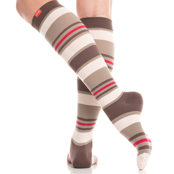 brown compression socks for women - Vim & Vigr - Boomly