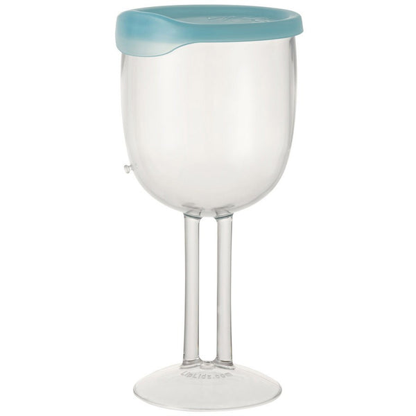 LipLidz Wine Glass with Lid on Teal - Boomly