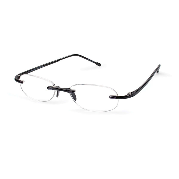 Scojo New York Gel Readers - Black Designer Reading Glasses - Boomly
