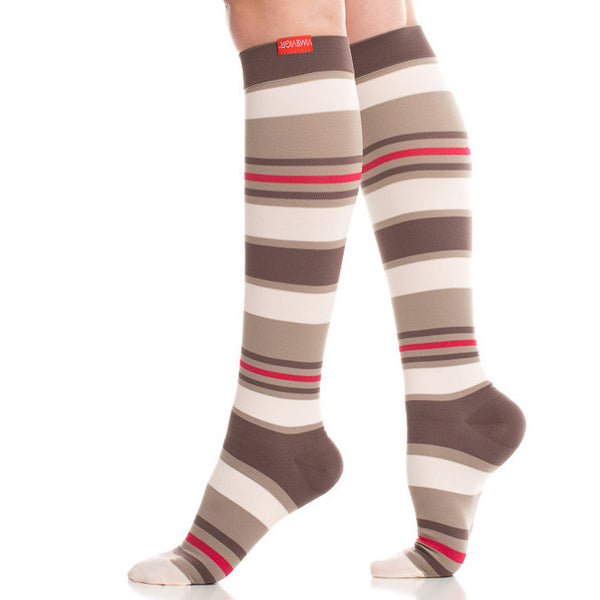 Cute fun striped compression socks- Vim & Vigr - Boomly