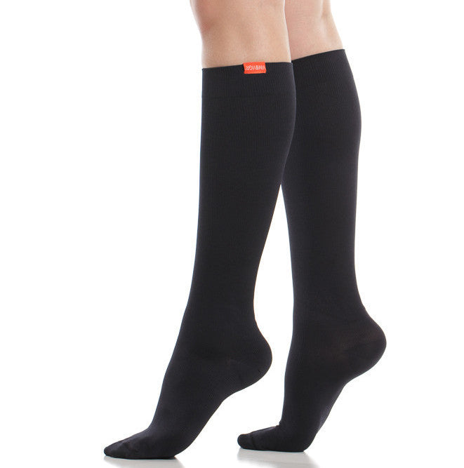 Designer black compression socks - Vim & Vigr - Boomly