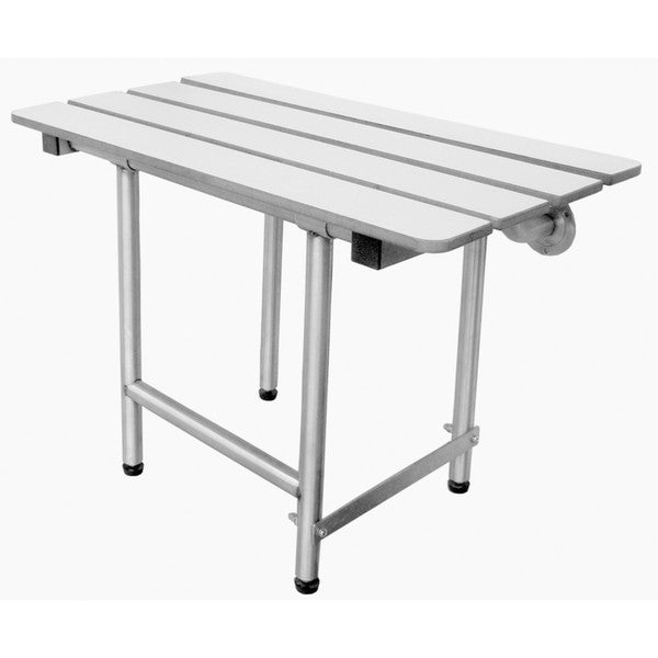 White ADA-Compliant Folding Shower Stool