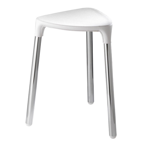 White Shower Stool - Yannis Gedy - Boomly
