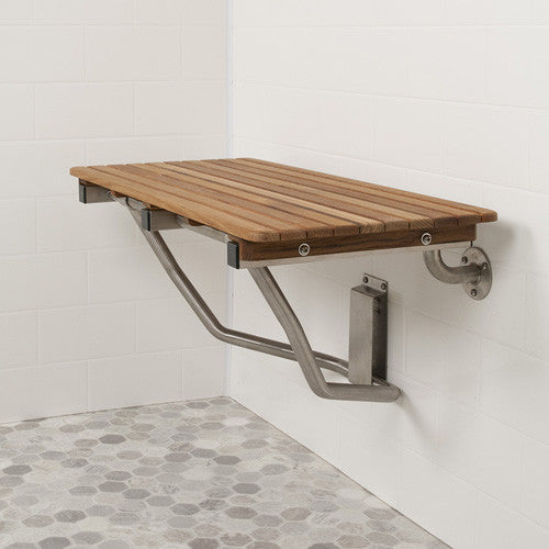 Shop ADA Compliant Folding Teak Shower Benches: By Teakworks4U