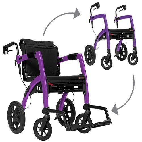 Rollz Rollator: 2 in 1 rollator and transport chair