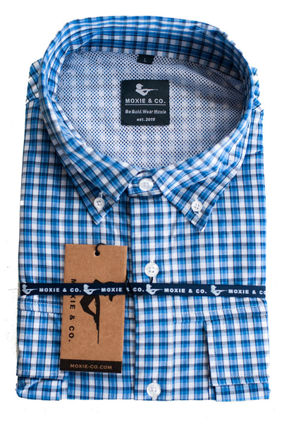 Moxie Fishing Shirt - Blue/White