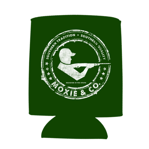 Moxie & Co. Signature Logo Koozie - Forest Green