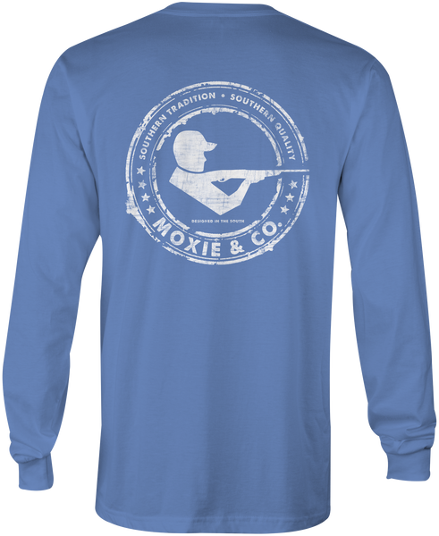 Moxie & Co. Signature Logo Tee - Bay Blue